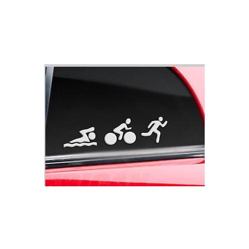 Autocollant Voiture Triathlon