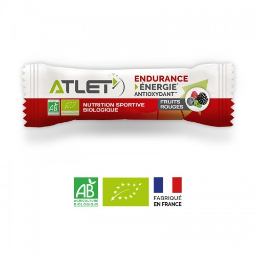 Pack 10 barres fruits rouges bio Atlet